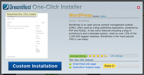 One Click WordPress Install